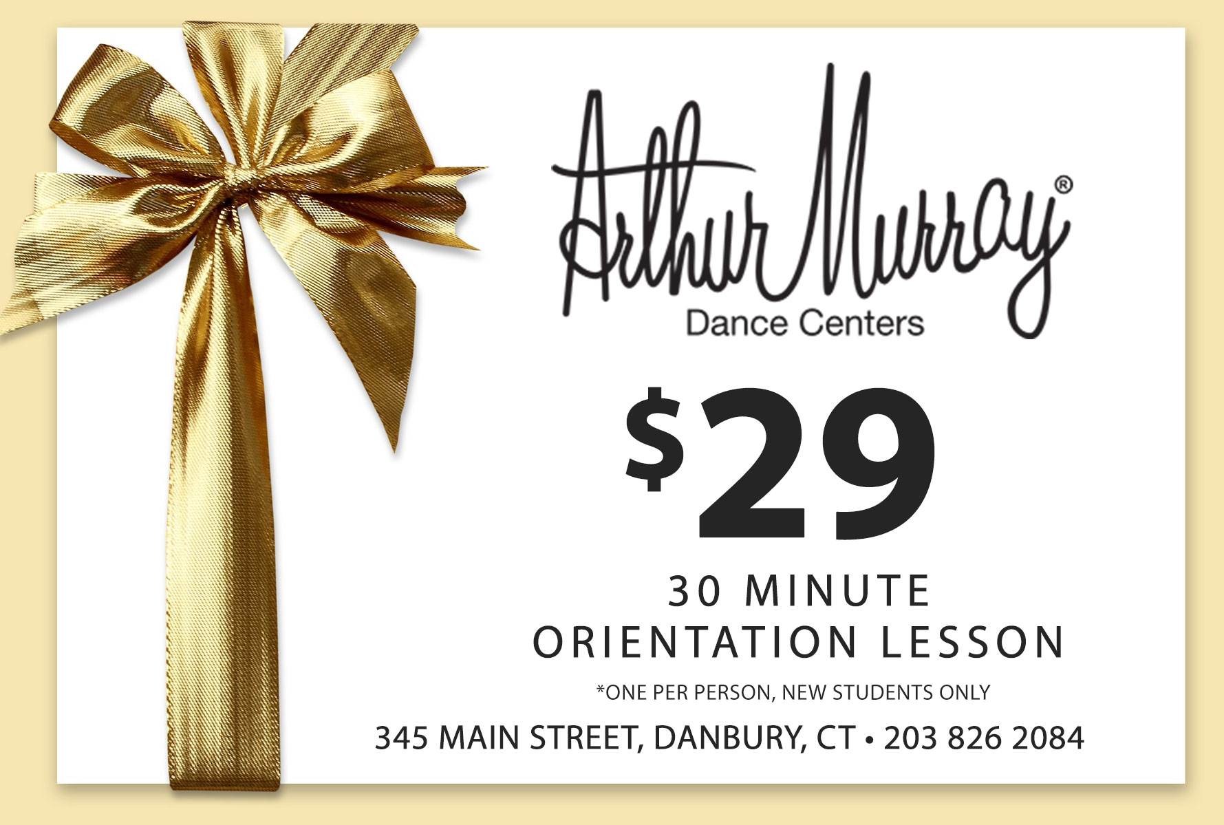 $29 30 minute orientation lesson