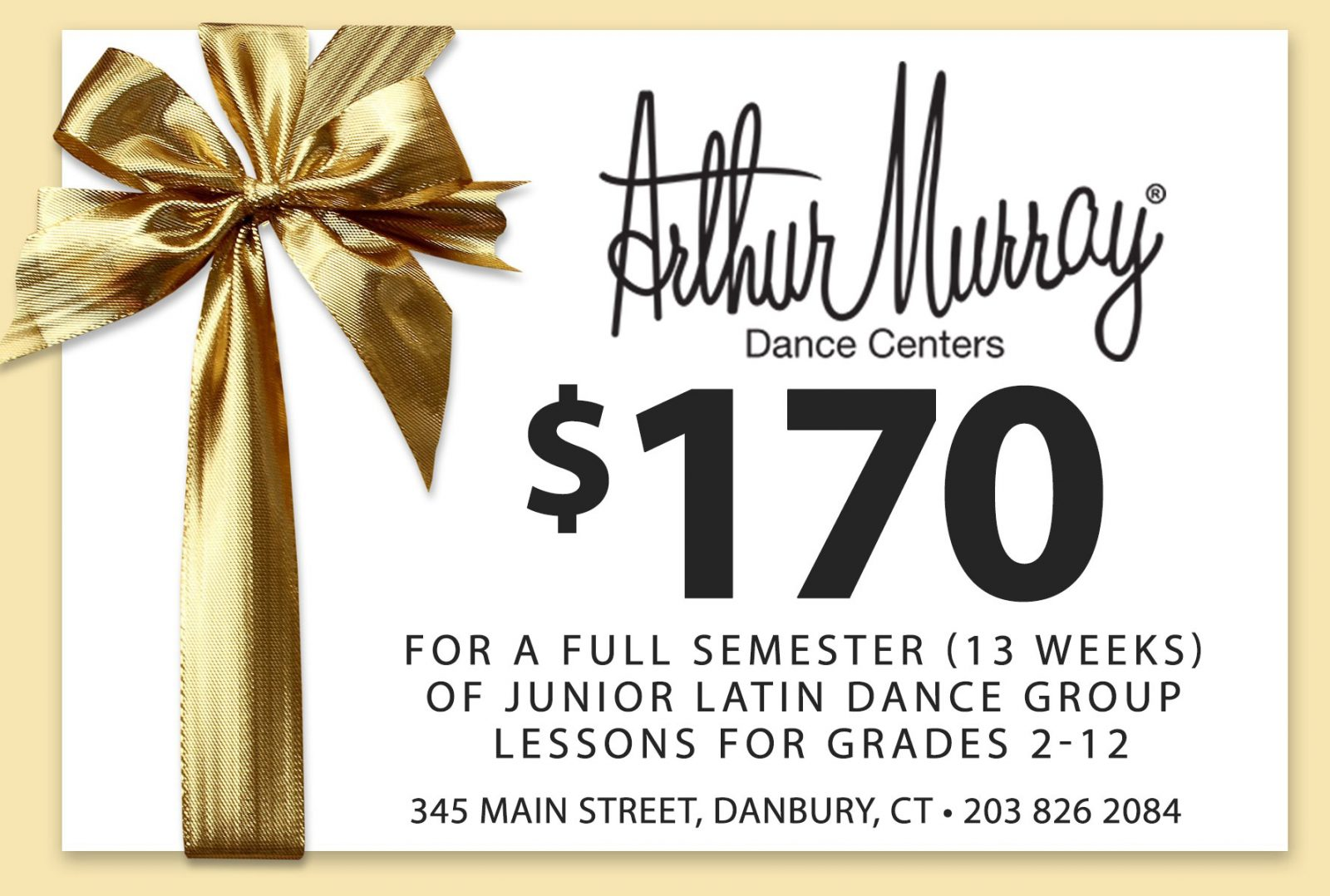 $170 junior latin dance group lessons