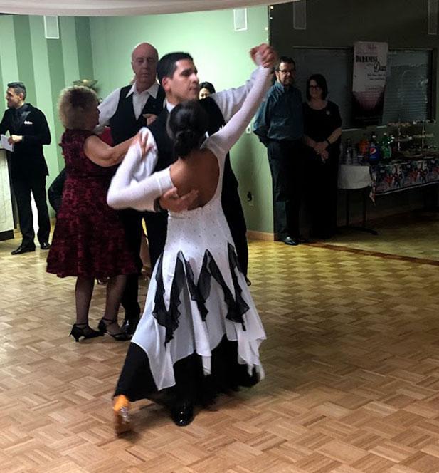 partner dancing in arthur murray dance class