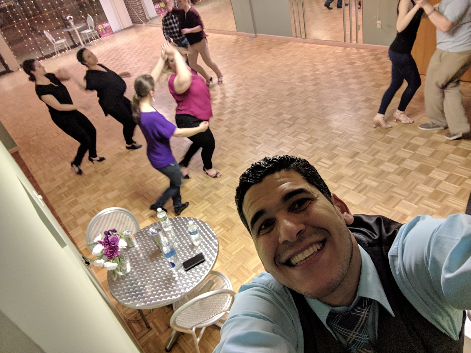 dance class with 8 people